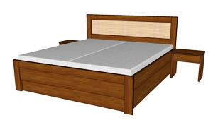 Úložný prostor k posteli Paloma