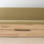 Luke se zásuvkou - varianta sedačka - čalouněná matrace