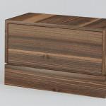Noční stole Sellia - OŘECH FRANCOUZSKÝ S BĚLÍ