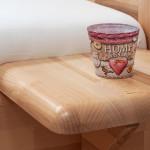 Adriana závěsný stolek buk jádrový lak