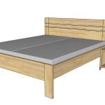 Noční stolek F64 - Ilessi + dvoulůžko Felisa