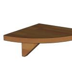 Noční stolek F75 - půlkulaté provedení