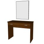 Toaletní stolek + zrcadlo Paloma - DUB MOŘENÝ NA MAHAGON