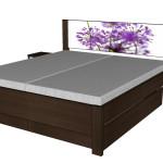 Zásuvky boční k posteli Miu - TMAVÝ OŘECH